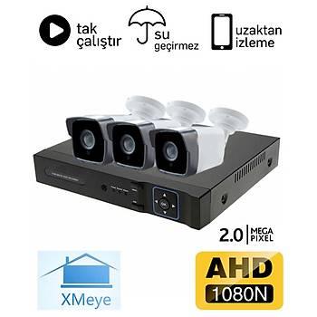 Oem 3 Kameralý 2.0mp AHD Eco Paket Kamera Sistemi - P203