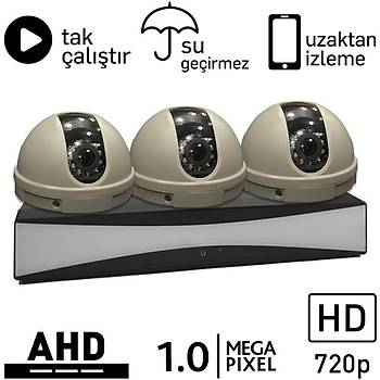 OEM 5010 AHD 3 Kameralı 1.0mp Paket - P172