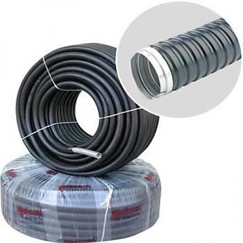 25 Metre 26'lýk PVC Kaplý Çelik Spiral Boru