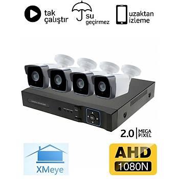 Oem 4 Kameralý 2.0mp AHD Eco Paket Kamera Sistemi - P204