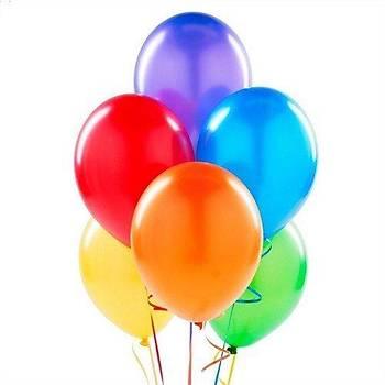 5 Adet Renkli Uçan Balon