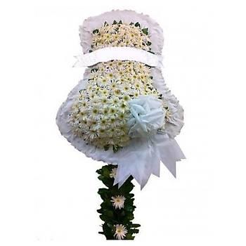 Beyaz Gerbera Kutlama Çelengi