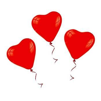 5 Adet Kalp Uçan Balon