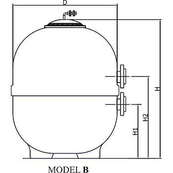 Tüm Plastik- Ozon Ýçin Kum Filtresi Model: 1400 mm