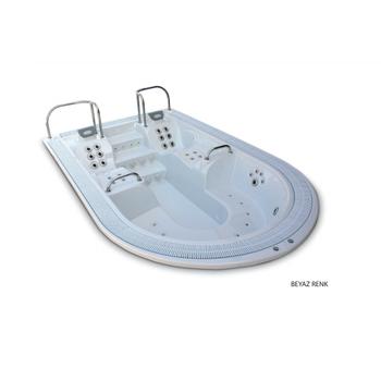 ASTRAL WELLMAX Spa paslanmaz jet + yoðun LED aydýnlatma + paslanmaz çelik kollar