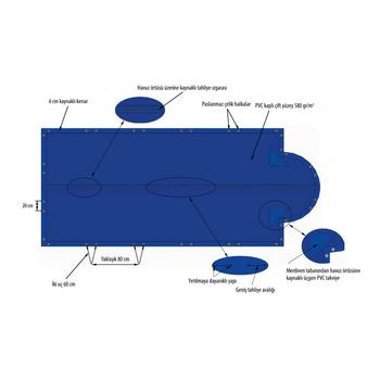 ASTRAL Intersup Kýþ Havuz Örtüsü - Ölçü: 4 x 8 m - Koyu Gri
