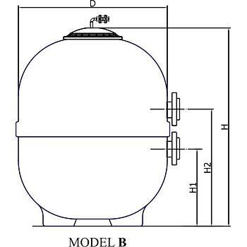 Nozbart - Ozon Ýçin Kum Filtresi Model: 1250 mm