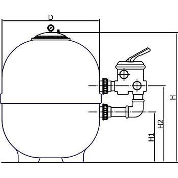 Tüm Plastik- Ozon Ýçin Kum Filtresi Model: 620 mm