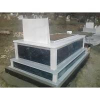 Siyah mermer mezar (Beyaz mermer kapaklı)