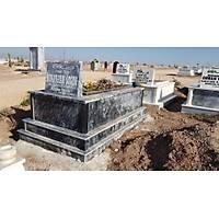 Siyah mermer mezar (Çift Taban)
