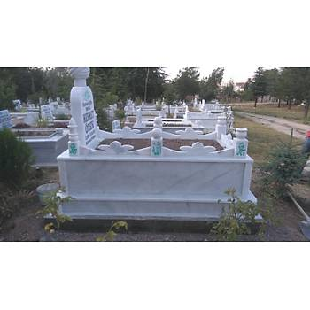 Beyaz mermer mezar (Kafesli)