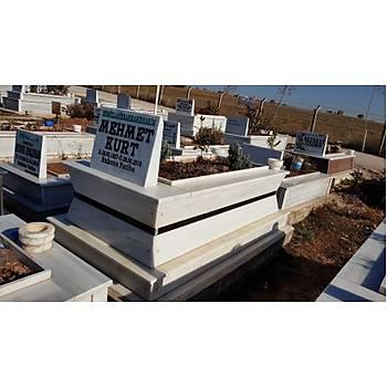 Özel yapým Mermer mezar (Ýçe Doðru Konik)