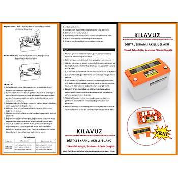 100 AH 100 A Outdo Jel AKÜ (LCD Ekranlı)