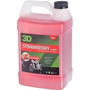 3D Strawberry - Çilekli Oto Parfümü 3.79 Lt.