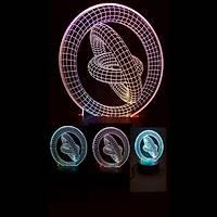 Halka 3D Led Lamba