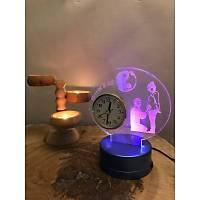 Kişiye Özel Tasarım Masaüstü Led Lamba ve Saati
