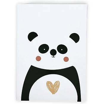 Latua Panda A5 Defter Çizgisiz