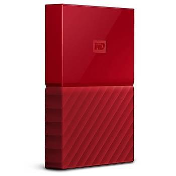 """1TB WD 2.5"""" USB3.0 MY PASSPORT KIRMIZI WDBYNN0010BRD-WESN"""