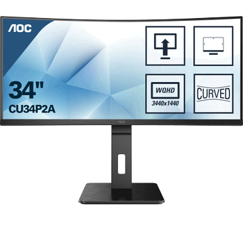 34 AOC CU34P2A IPS QHD 1MS 100HZ 4K HDMI DP