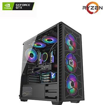 TG Gamer Pro X9/AMD Ryzen 5 3500 3.6Ghz, 16GB DDR4 Ram, GTX1650, 500GB NVMe m.2 SSD, RGB Oyun Bilgisayarý