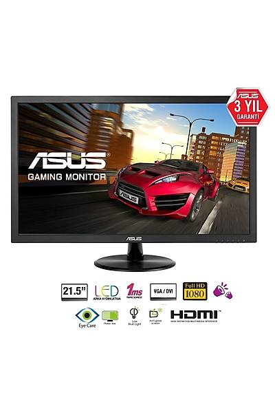 21.5 ASUS VP228HE FHD LED 1MS HDMI/DSUB/DVI