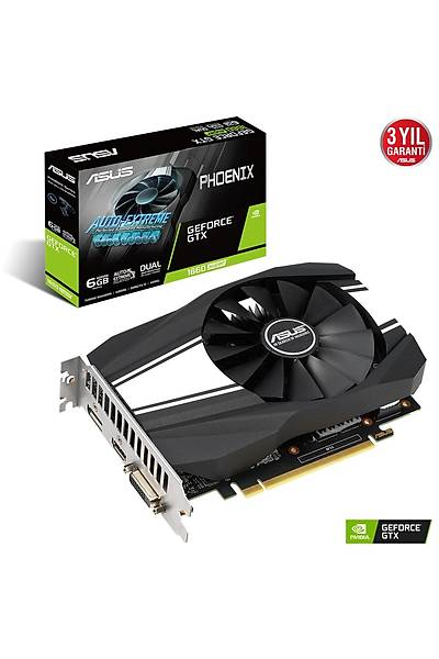 ASUS PH-GTX1660S-6G 6GB GDDR6 HDMI DP 192Bit