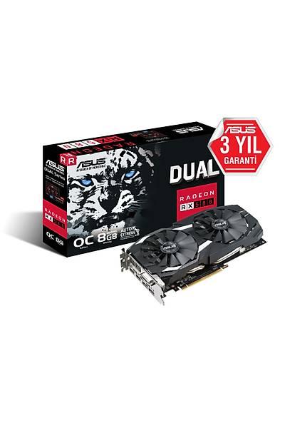 ASUS DUAL-RX580-O8G 8GB GDDR5 DVI HDMI 256Bit