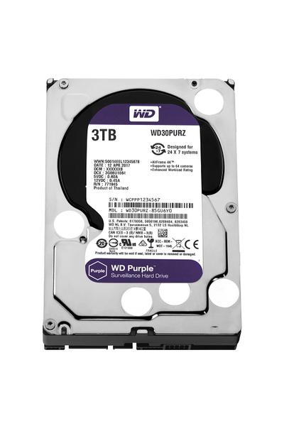 3TB WD Purple SATA6 64MB DV 7x24 WD30PURZ