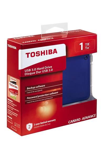 """1TB CANVIO ADVANCE 2.5"""" USB3.0 TOSHIBA HDTC910EL3AA MAVİ"""