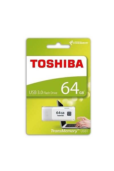 64 GB BELLEK USB 3.0 HAYABUSA BEYAZ TOSHIBA THN-U301W0640E4