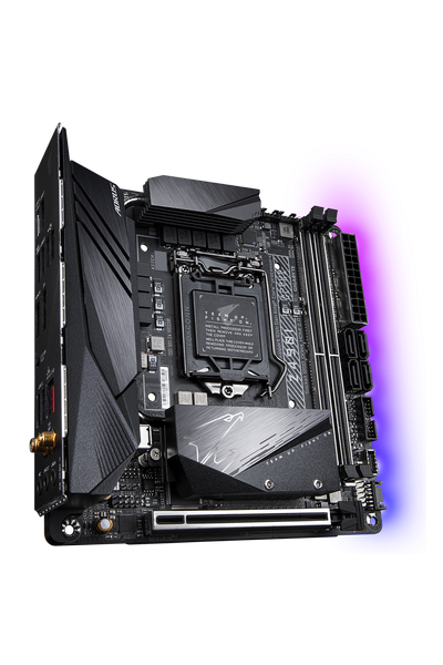 GIGABYTE Z490I AORUS ULTRA DDR4 5000OC MITX 1200p