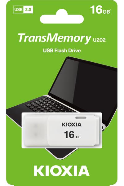 16GB USB2.0 KIOXIA BEYAZ USB BELLEK LU202W016GG4