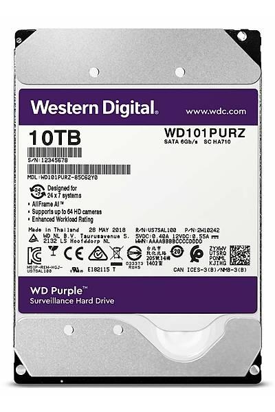 10TB WD Purple SATA3 3.5'' 256MB DV 7x24 WD101PURZ