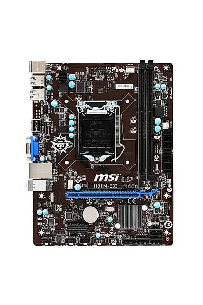 MSI H81M-E33 DDR3 S+V+GL DVI 1150p