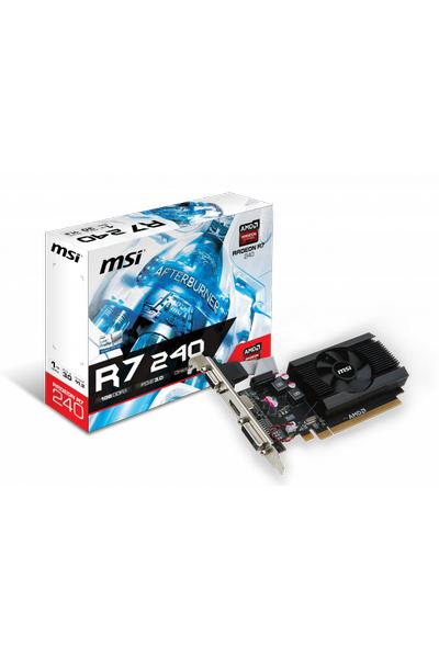 MSI R7 240 1GD3 LP 1GB DDR3 64Bit HDMI DVI VGA