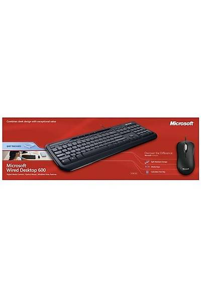 MS WIRED DESKTOP 600 Q TR SİYAH SET (APB-00010)