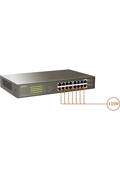 TENDA TEG1116P 16 PORT GIGABIT 16PORT POE 150W SWITCH