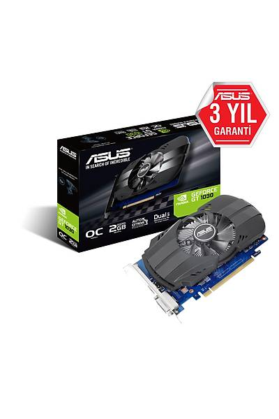 ASUS PH-GT1030-O2G 2GB DDR5 64Bit HDMI/DVI