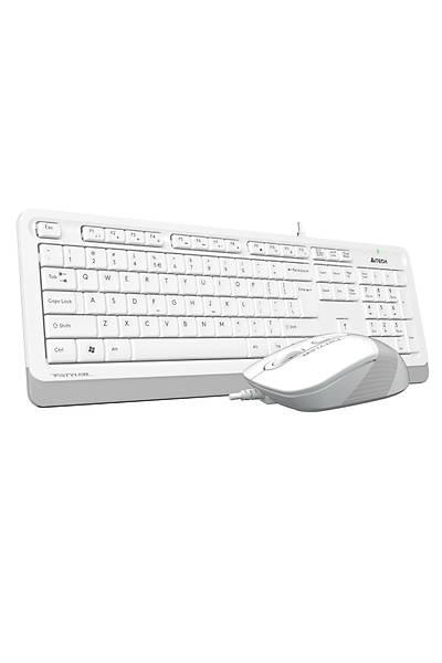 A4 TECH F1010 Q USB BEYAZ TR MM KLAVYE+OPT MOUSE