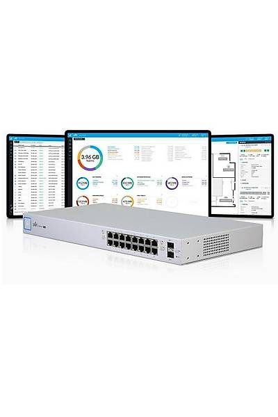UBIQUITI US-16 UNIFI 16PORT POE SWITCH(US-16-150W)