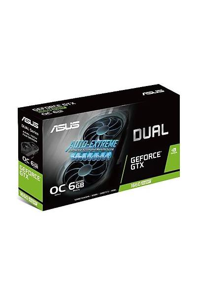 ASUS DUAL-GTX1660S-O6G-EVO 6GB GDDR6 HDMI DVI DP 192Bit
