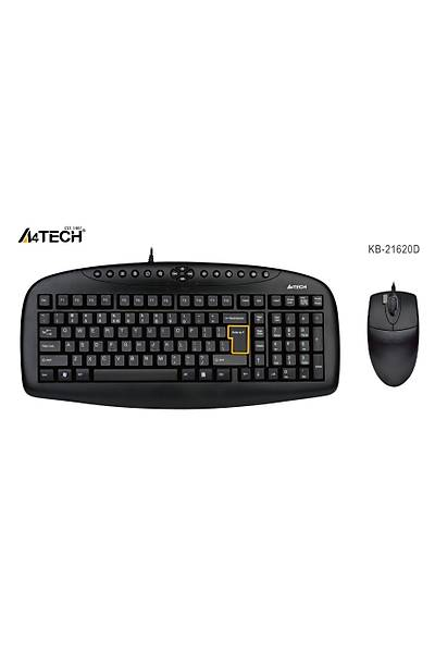 A4 TECH KB-21620D Q USB SİYAH SET