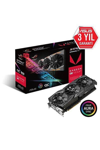 ASUS ROG-STRIX-RXVEGA64-O8G-GAMING HD DP/HDMI/DVI