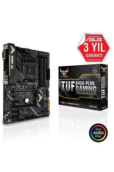 ASUS TUF B450-PLUS GAMING DDR4 USB3.1 AURA RGB ATX