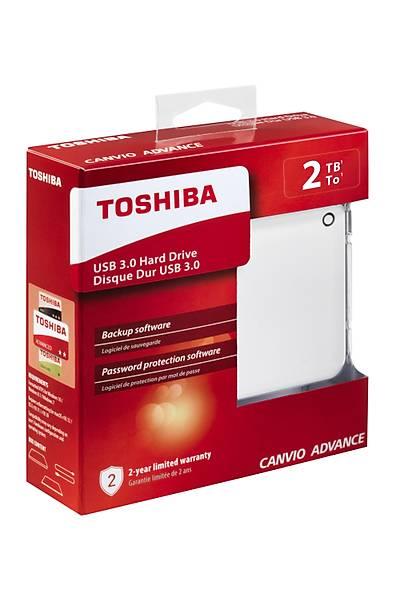 "2TB CANVIO ADVANCE 2.5"" USB3.0 TOSHIBA HDTC920EW3AA BEYAZ"