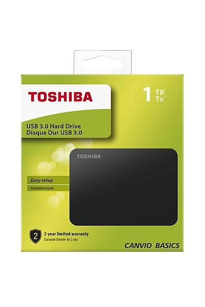 "1TB CANVIO BASİC 2.5"" USB3.0 TOSHIBA HDTB410EK3AA"