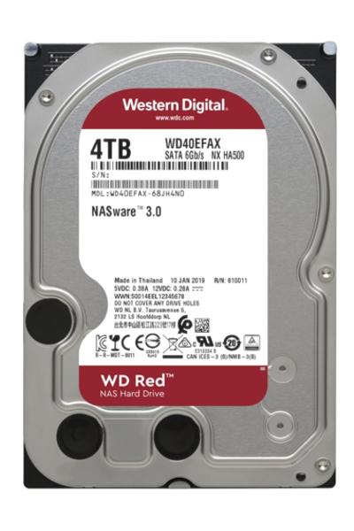 4TB WD Red Intellipower SATA3 64MB WD40EFAX