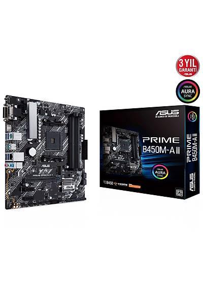 ASUS PRIME B450M-A II DDR4 4400 DVI VGA M2 AM4