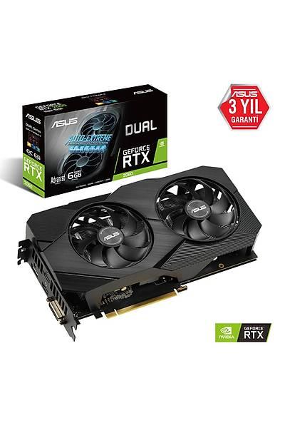 ASUS DUAL-RTX2060-A6G-EVO 6GB GDDR6 192Bit HDMI DP