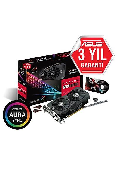 ASUS STRIX-RX560-O4G-GAMING DDR5 OC 128Bit DVI/HDMI/DP